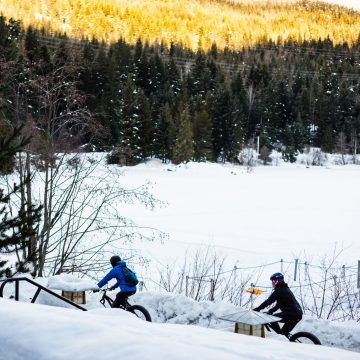 Fat bikes are a great way to explore in the winter.