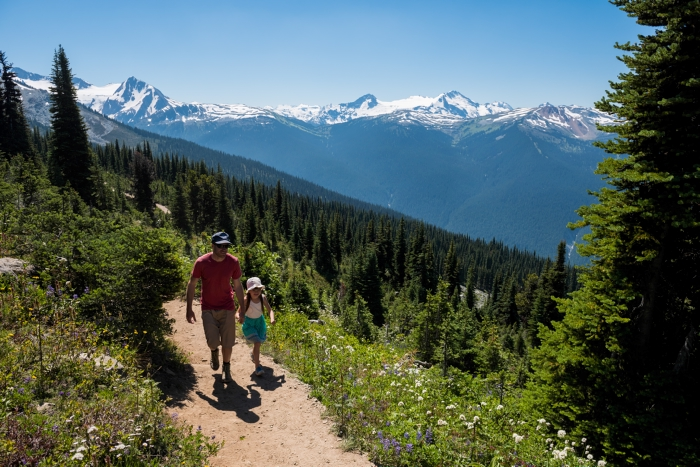 Hike in the alpine at Whistler Blackcomb. Photo: Tourism Whistler/Mike Crane