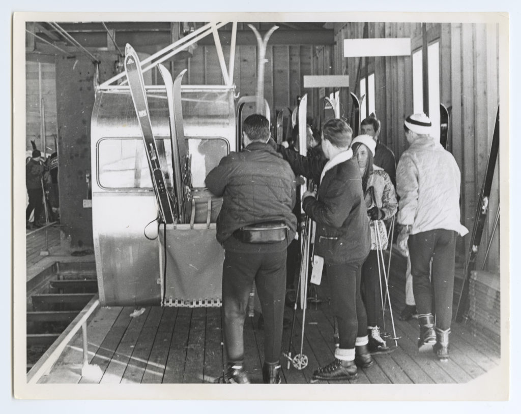 1966 Whistler Mountain opens and guests upload from the Creekside Gondola for the first time