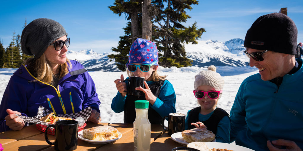 Spring alfresco Dining on Whistler Blackcomb
