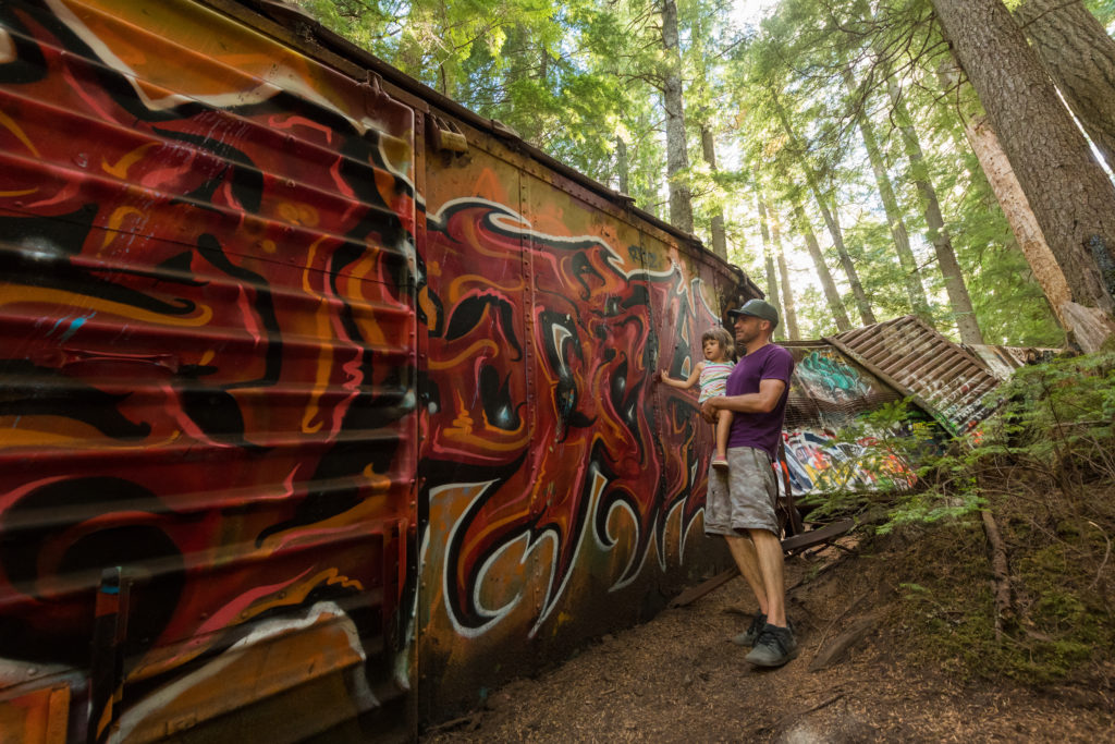 Exploring the Train Wreck Hike | Five Whistler Hikes For The Whole Family