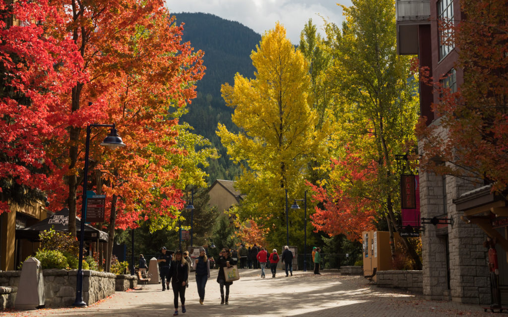 Whistler Village Stroll During Fall