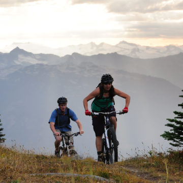 Mountain biking in Whistler. PC: Tourism Whistler/Steve Rogers