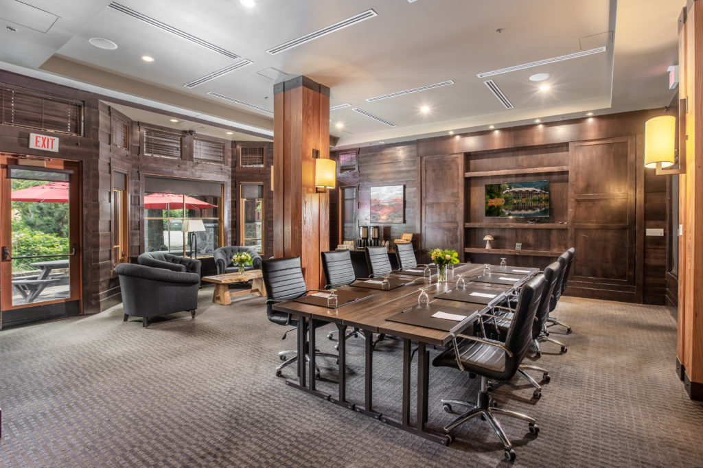 The Library at Nita Lake Lodge is perfect for meetings and events in Whistler.