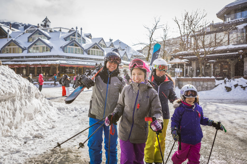 Much of Whistler's accommodation is in the hustle and bustle of Whistler Village itself. PC: Tourism Whistler/Justa Jeskova