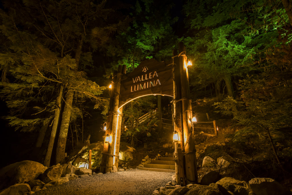 Vallea Lumina takes explorers on a journey in search of hidden wonders.  PC: Tourism Whistler/Justa Jeskova