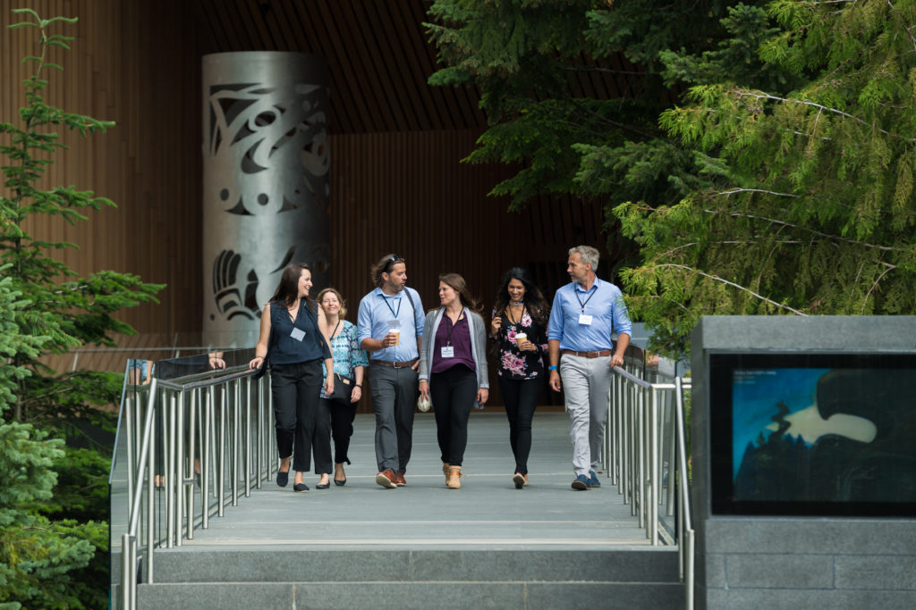 Conference attendees at the Audain Art Museum.  PC: Tourism Whistler/Mike Crane.