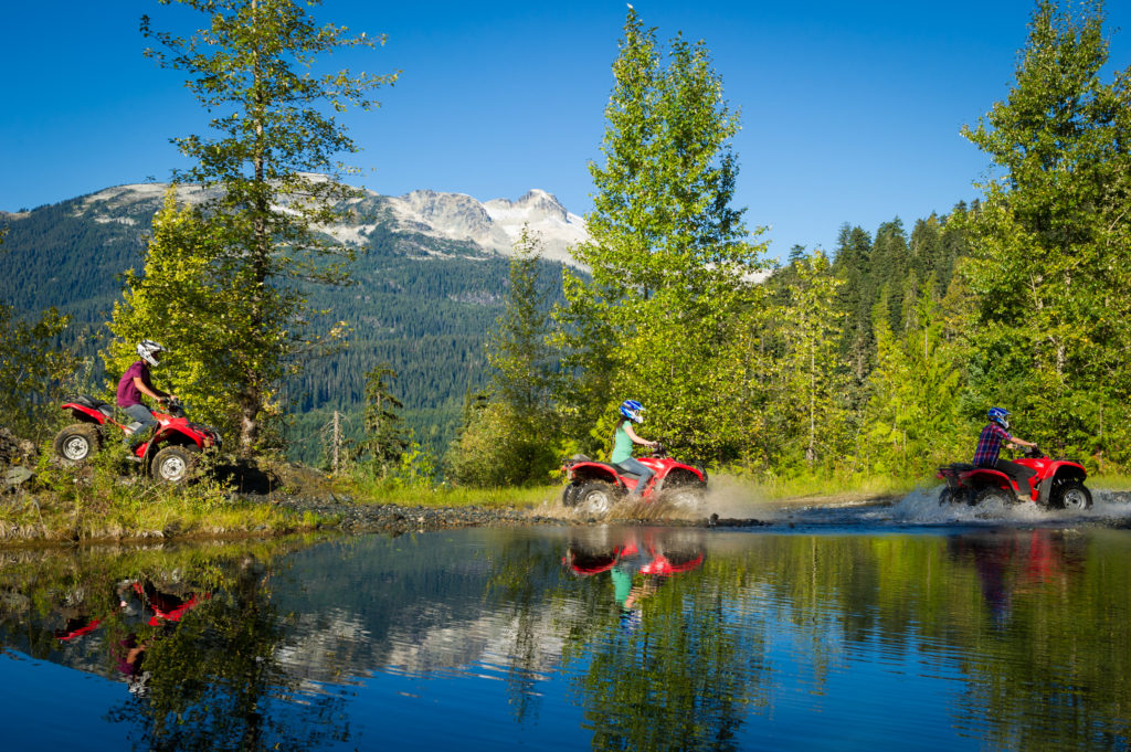 Callaghan ATV tour with Canadian Wilderness Adventures. PC: Tourism Whistler/Mike Crane