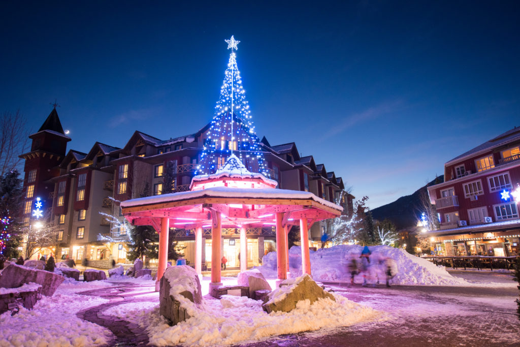 The Holidays in Whistler is a magical experience. PC: Tourism Whistler/Mike Crane