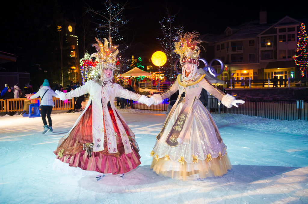 Festive Celebrations on the ice in Whistler Village. PC: Tourism Whistler/Mike Crane.