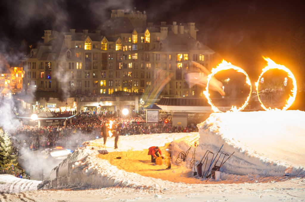 The Fire & Ice Show is a huge crowd-pleaser. PC: Tourism Whistler/Mike Crane.