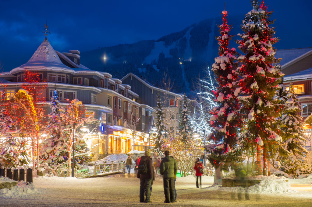 The holiday experience in Whistler is pure mountain magic.  PC: Tourism Whistler/Mike Crane.