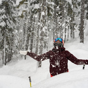 Dreaming of epic Whistler snow? Yeah, us too! PC: Tourism Whistler/Vince Emond