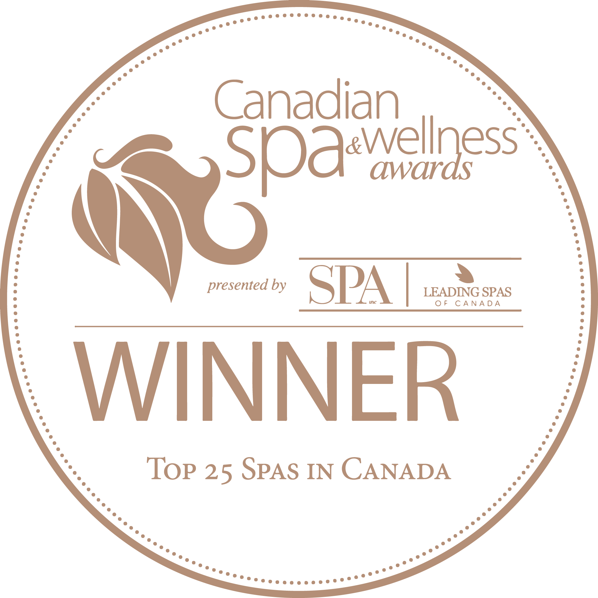 Canadian Spa & Wellness Awards Winner - Top 25 Spas in Canada