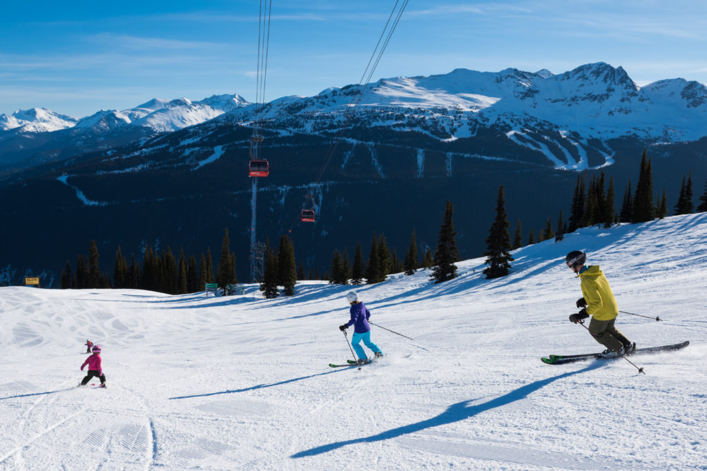 When it comes to beginner ski runs of Whistler, there are plenty of options to choose from.  PC: Tourism Whistler/Mike Crane