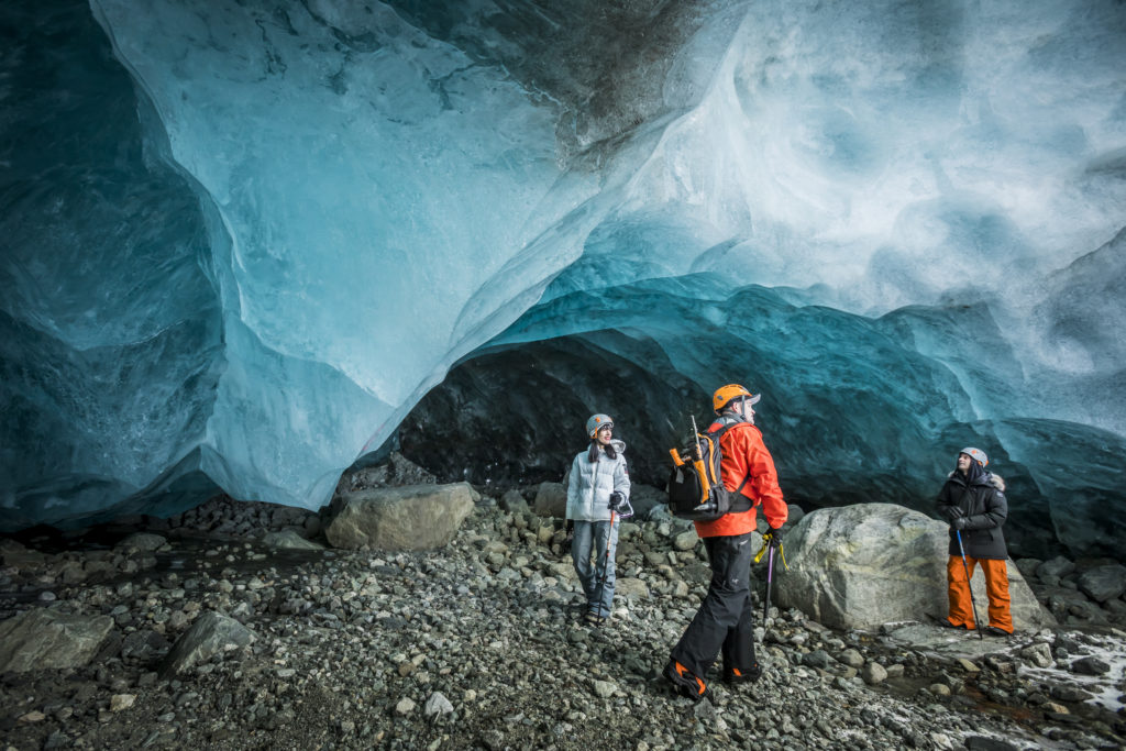 Check out a glacier ice cave! PC: Tourism Whistler/Justa Jeskova