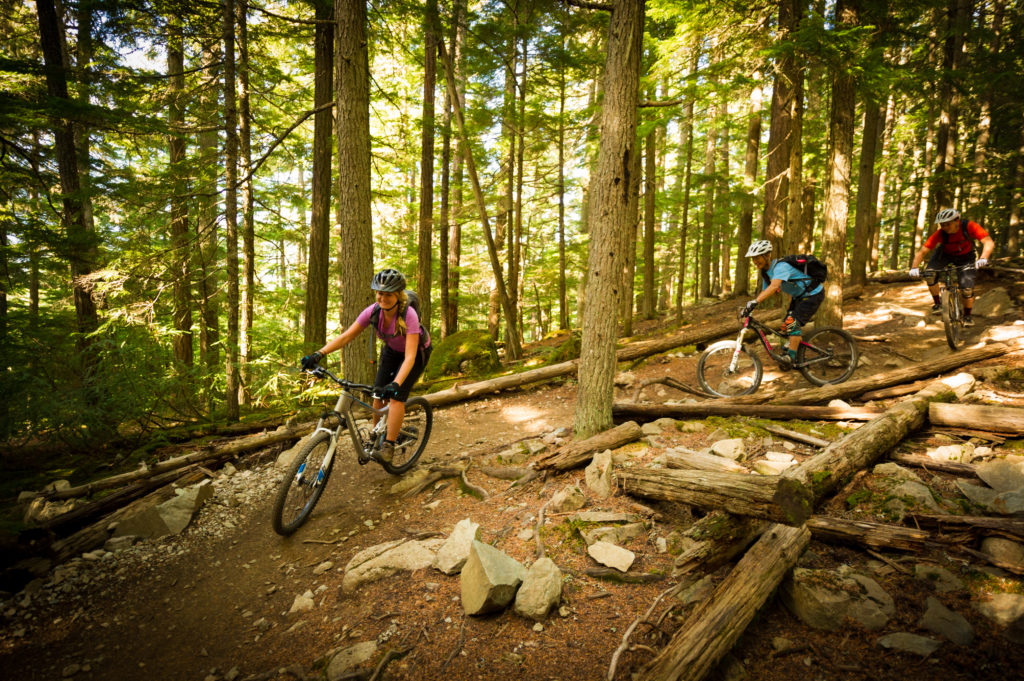 Lost Lake Park is perfect for beginner to intermediate mountain bike trails in Whistler. PC: Tourism Whistler/Mike Crane.