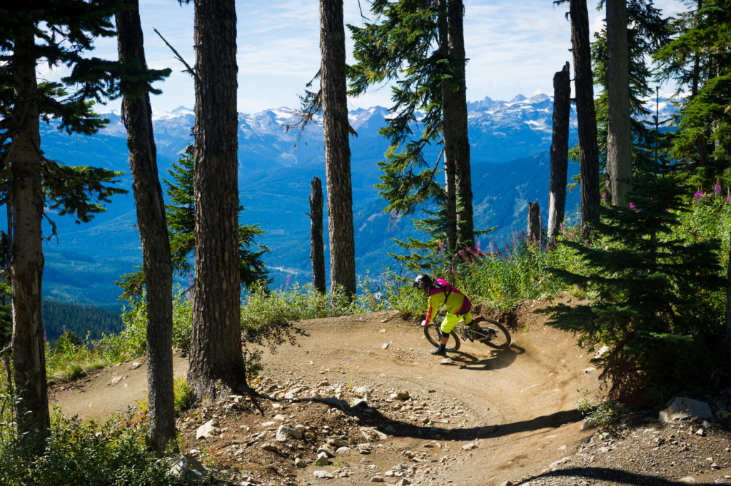 I'm a big fan of Whistler Bike Park, and I really like the Creekside trails. PC: Tourism Whistler/Mike Crane.