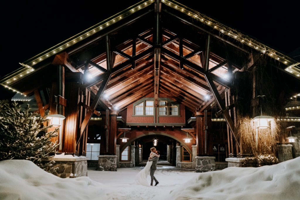 Whistler Elopement Venue: Porte-cochère at Nita Lake Lodge.