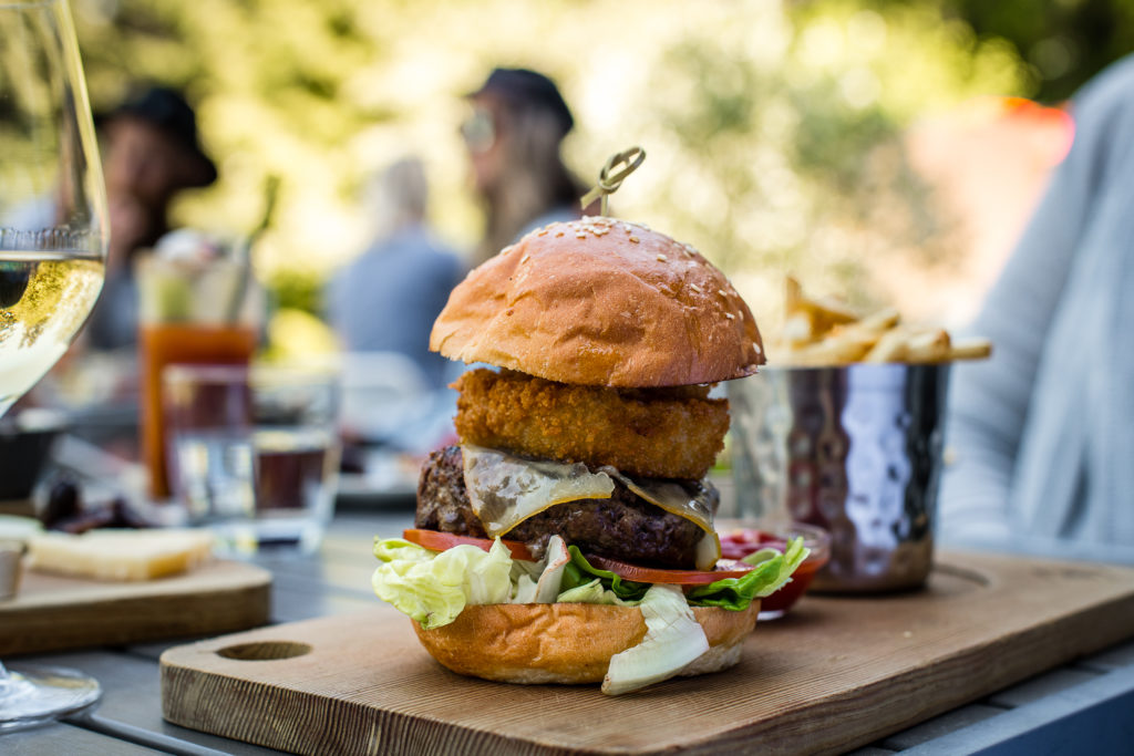 Lunch with a view in Whistler - Don't miss the Cure Burger at Nita Lake Lodge!