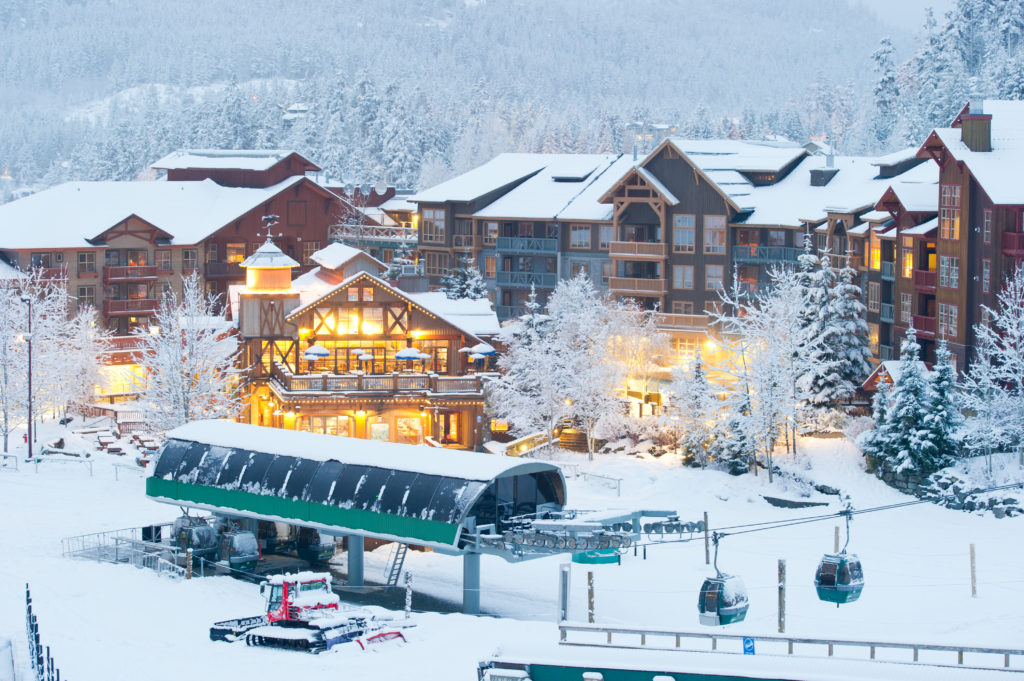 Fresh snow in Creekside. Credit: Tourism Whistler/Mike Crane