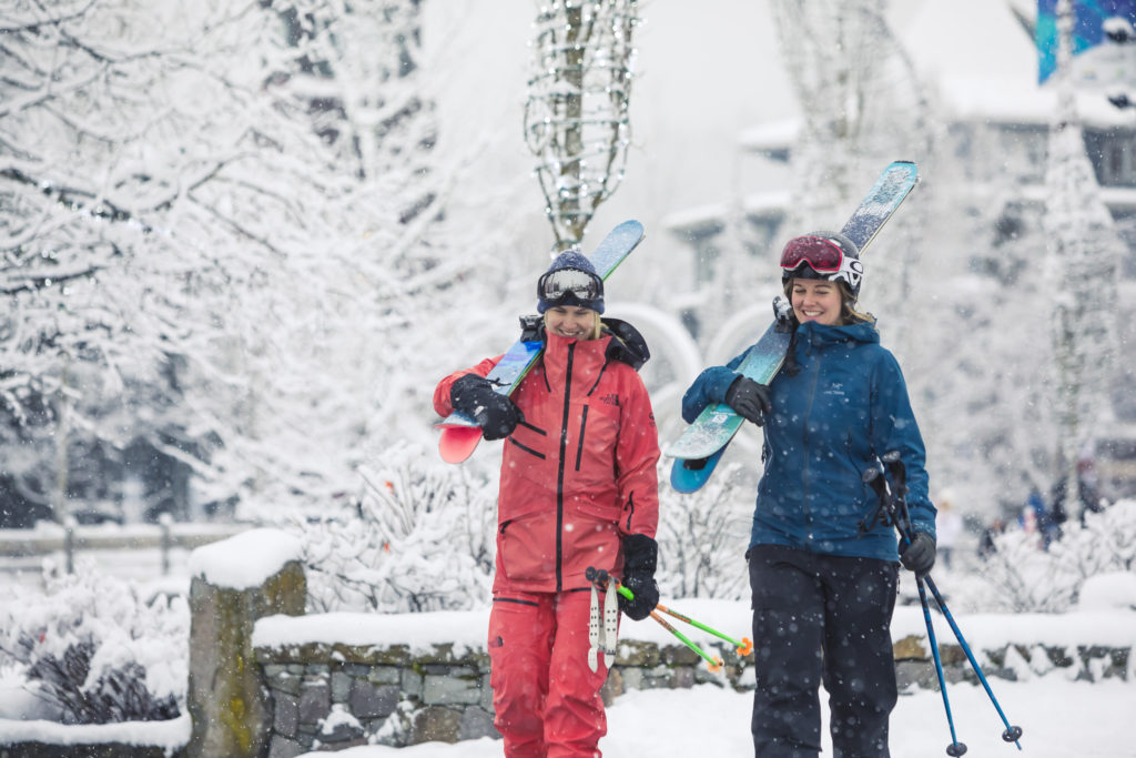 A ski day in Whistler is something to get excited about! PC: Tourism Whistler/Justa Jeskova